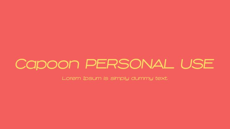 Capoon PERSONAL USE Font Family
