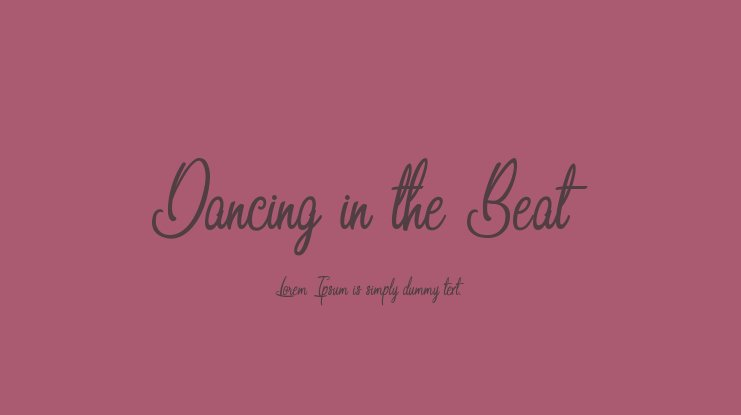 Dancing in the Beat Font