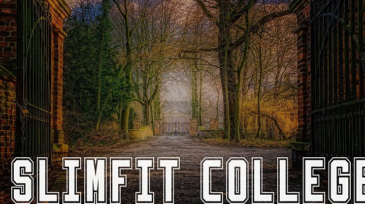 Slimfit College Font Family