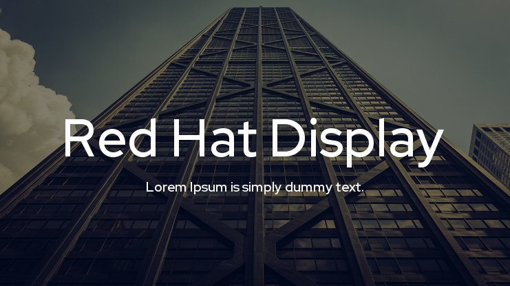 Red Hat Font Family