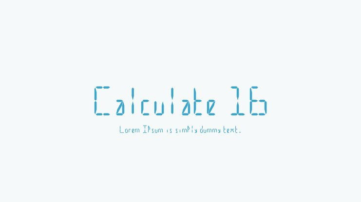 Calculate 16 Font Family