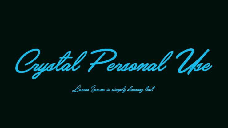 Crystal Personal Use Font