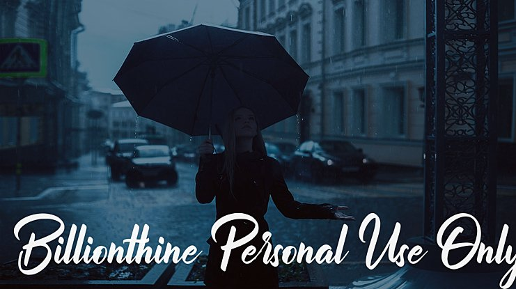 Billionthine Personal Use Only Font Family