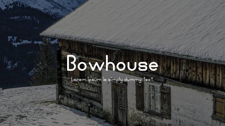 Bowhouse Font Family