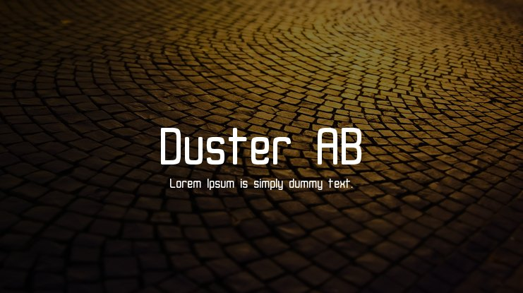 Duster AB Font Family