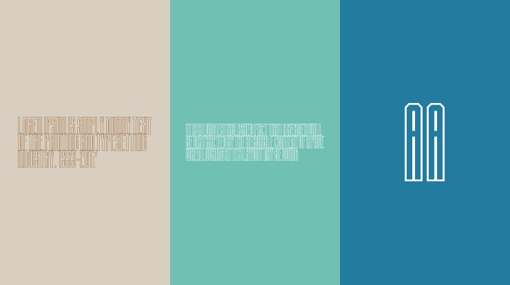 Building State Empire Hollow Font Family