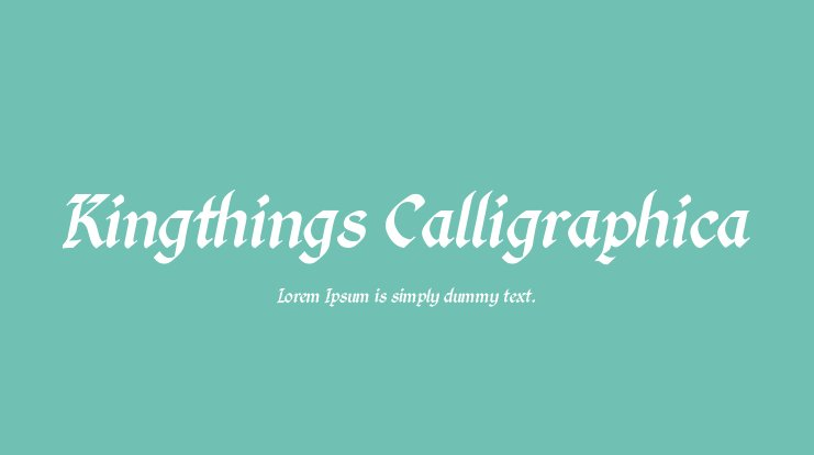 Kingthings Calligraphica Font Family