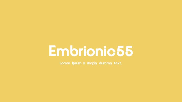 Embrionic55 Font Family