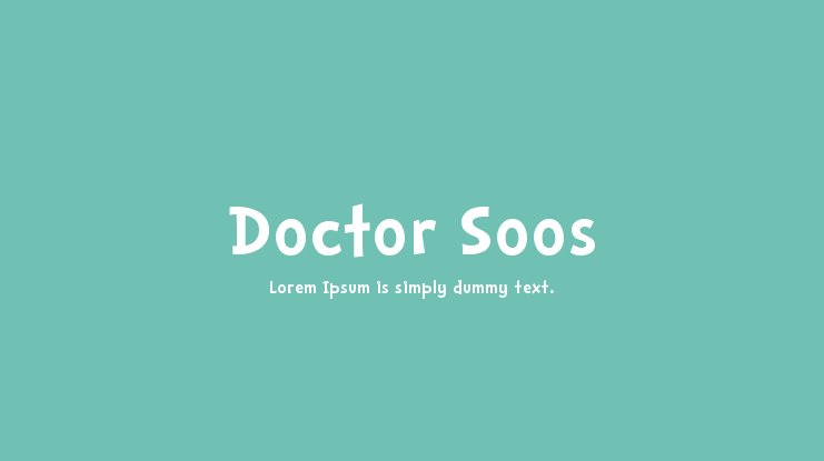 Doctor Soos Font Family