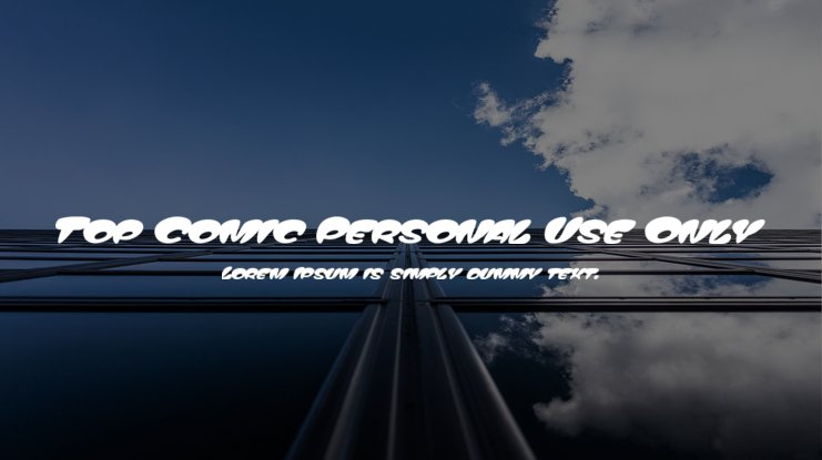 Top Comic Personal Use Only Font