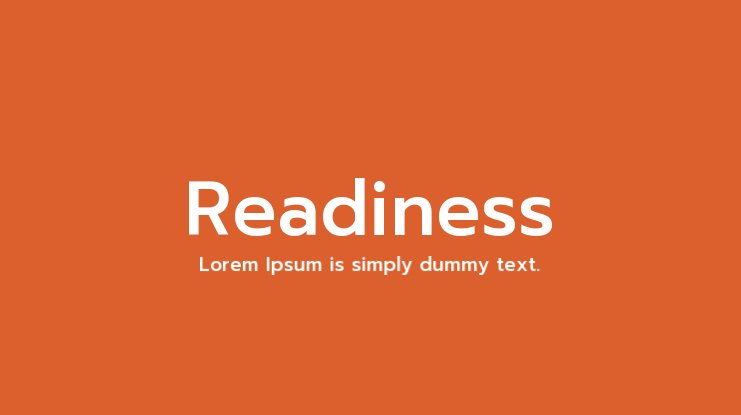 Readiness Font Family