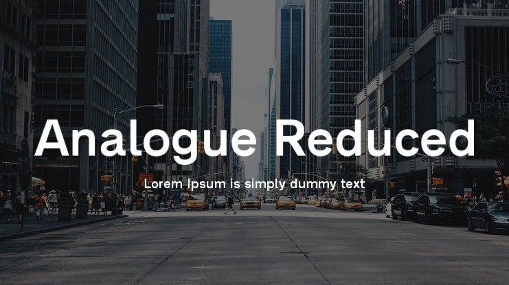 Analogue Reduced Font Family