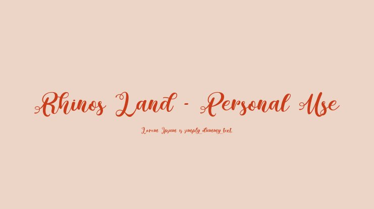 Rhinos Land - Personal Use Font Download Free PC/Mac and Web Font