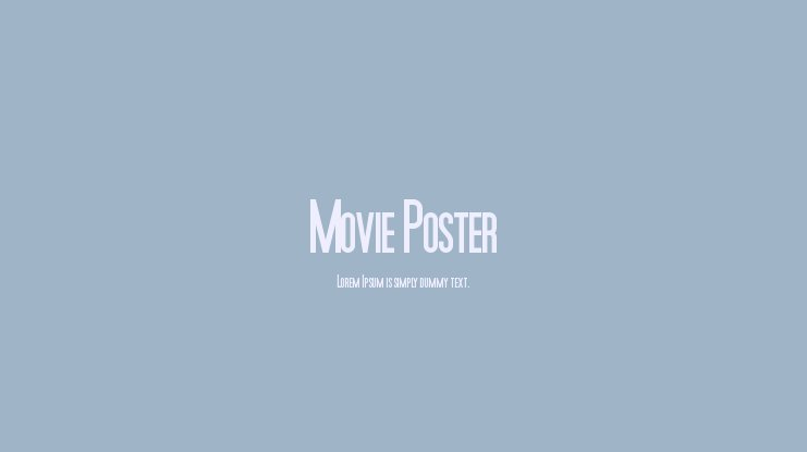 Movie Poster Font Family