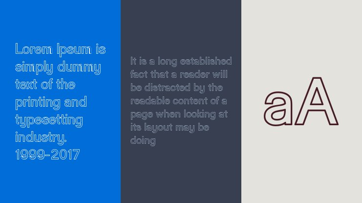 Goulong  Outline Font Family
