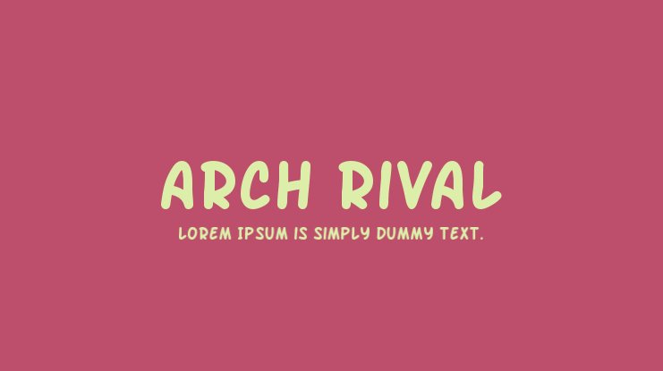 Arch Rival Font Family