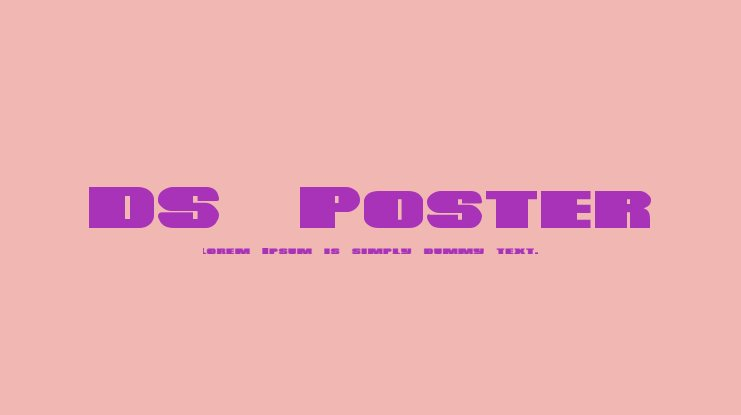 DS Poster Font