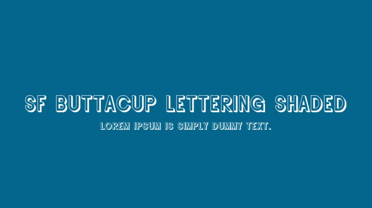 SF Buttacup Lettering Shaded Font