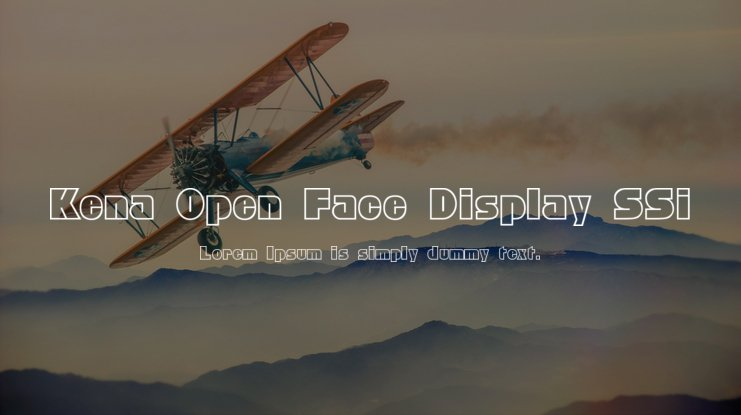 Kena Open Face Display SSi Font