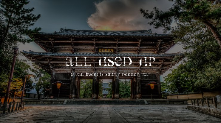 All Used Up Font
