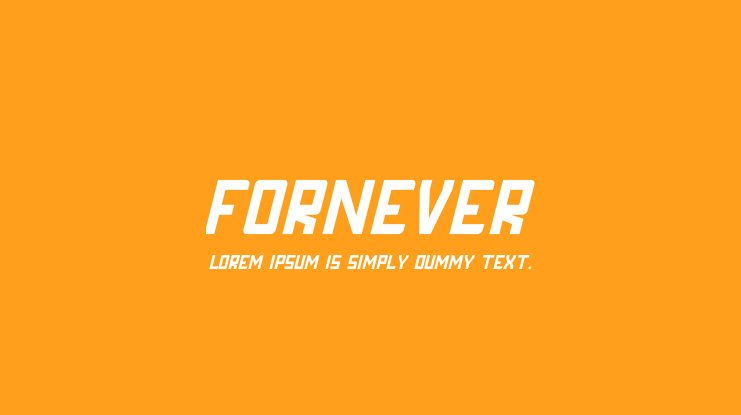 FORNEVER Font Family