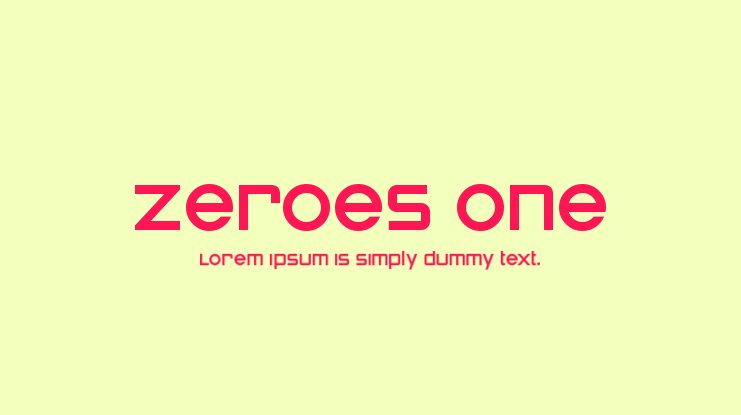 Zeroes One Font Family