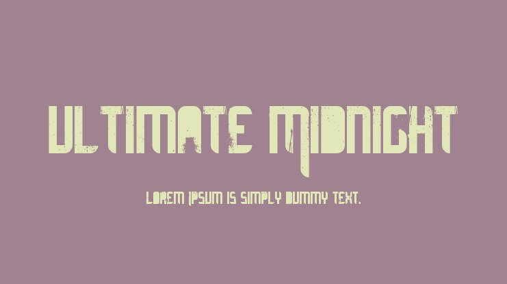 Ultimate Midnight Font
