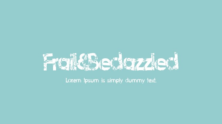 Frail&Bedazzled Font