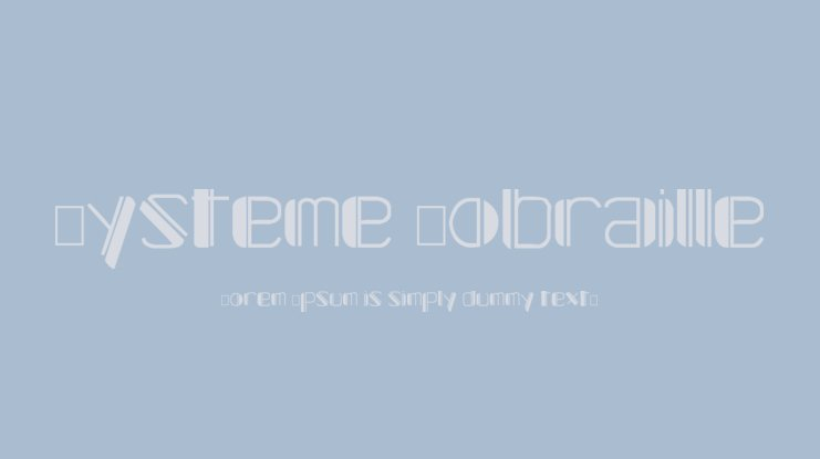 Systeme Robraille Font