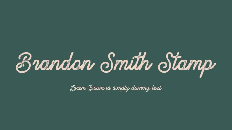 Brandon Smith Stamp Font
