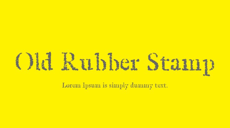 Old Rubber Stamp