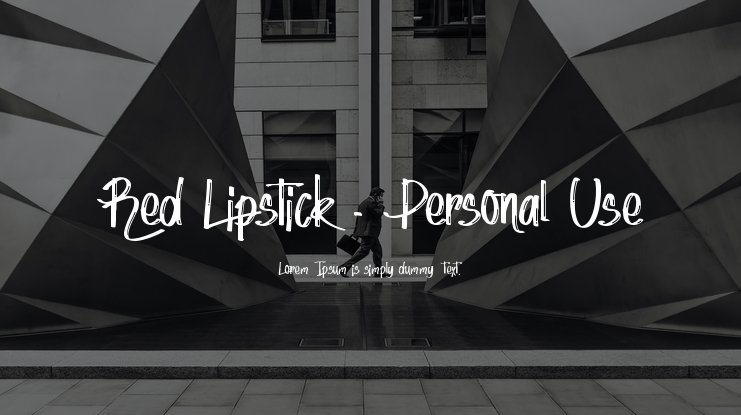 Red Lipstick - Personal Use Font