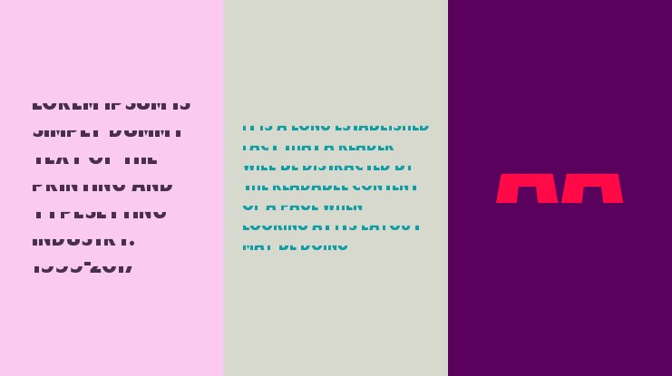 American Purpose STRIPE 1 Font Family