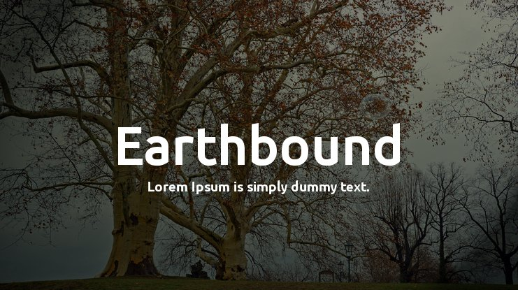 Earthbound Font Family