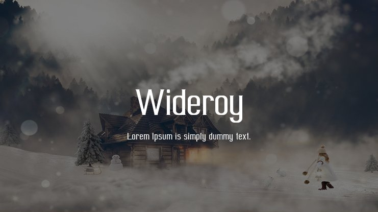 Wideroy Font