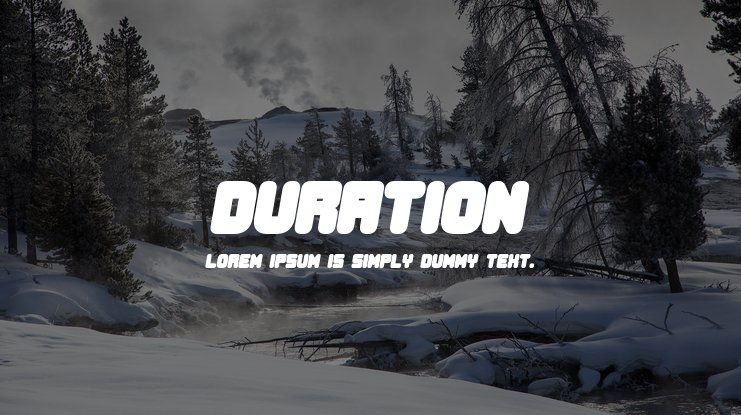 Duration Font Family