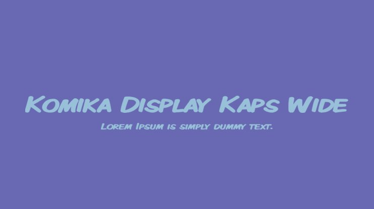 Komika Display Kaps Wide Font Family