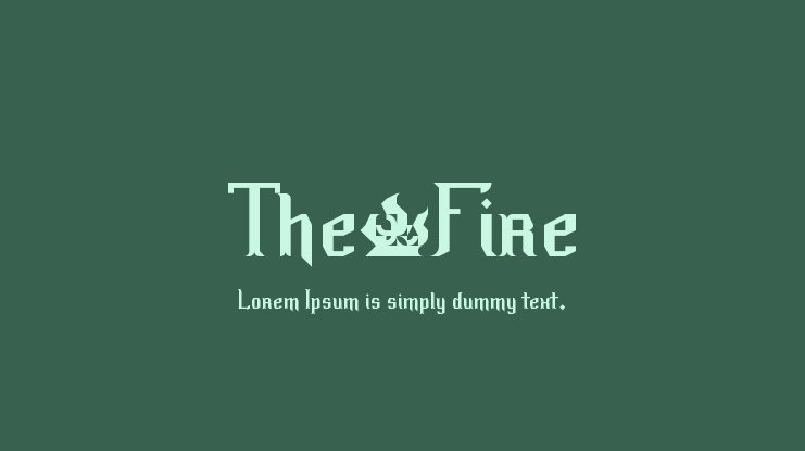 The·Fire Font