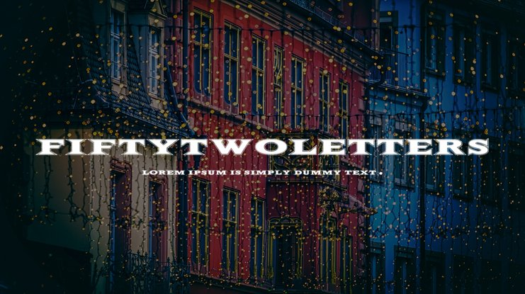 FiftyTwoLetters Font