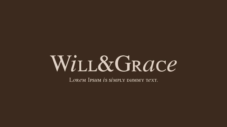 Will&Grace Font