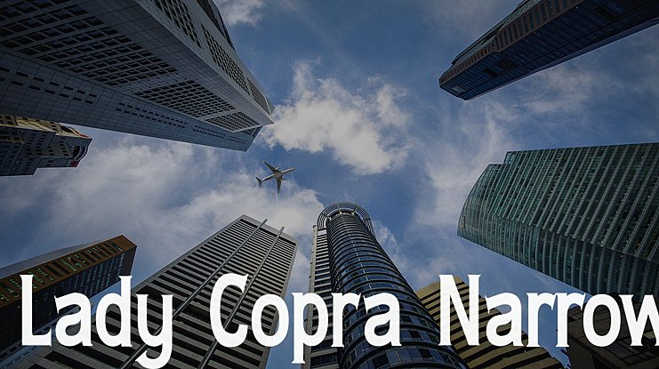 Lady Copra Narrow Font