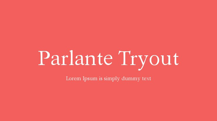 Parlante Tryout Font