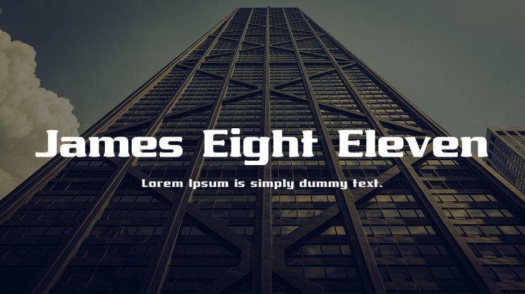 James Eight Eleven Font