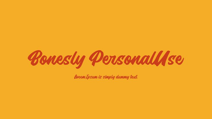 Bonesly PersonalUse Font