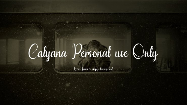 Calyana Personal use Only Font