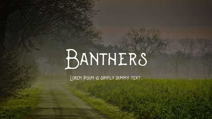 Banthers Font Family