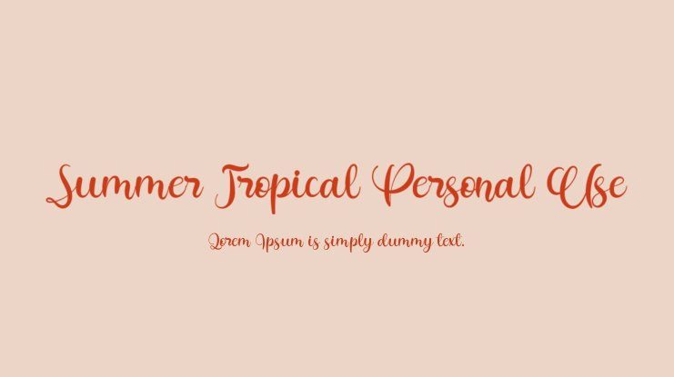 Summer Tropical Personal Use Font