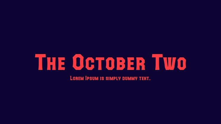 The October Two Font Family
