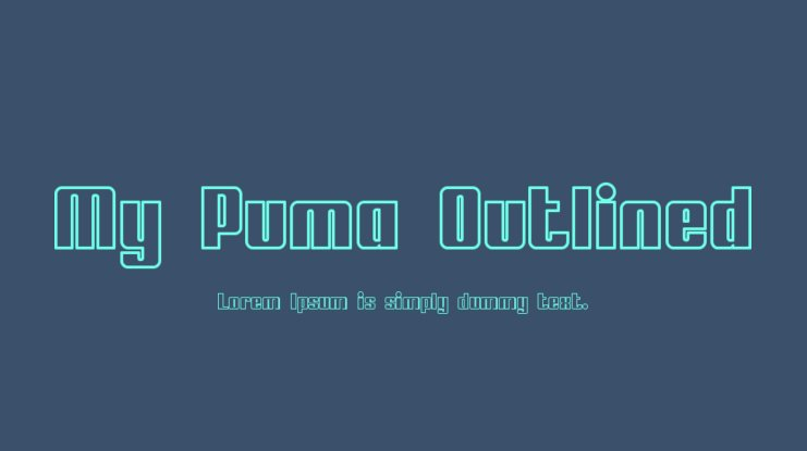 My Puma Outlined Font