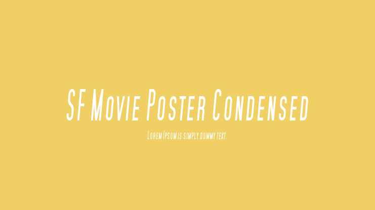 SF Movie Poster Condensed Font